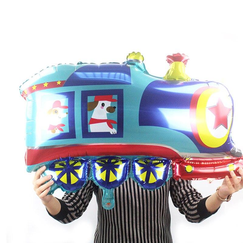 1pc Cartoon 3D cute Car school bus Foil Balloon Train tank globos Happy Birthday Party Decor Supplies kids toys air balloons in Ballons Accessories from Home Garden