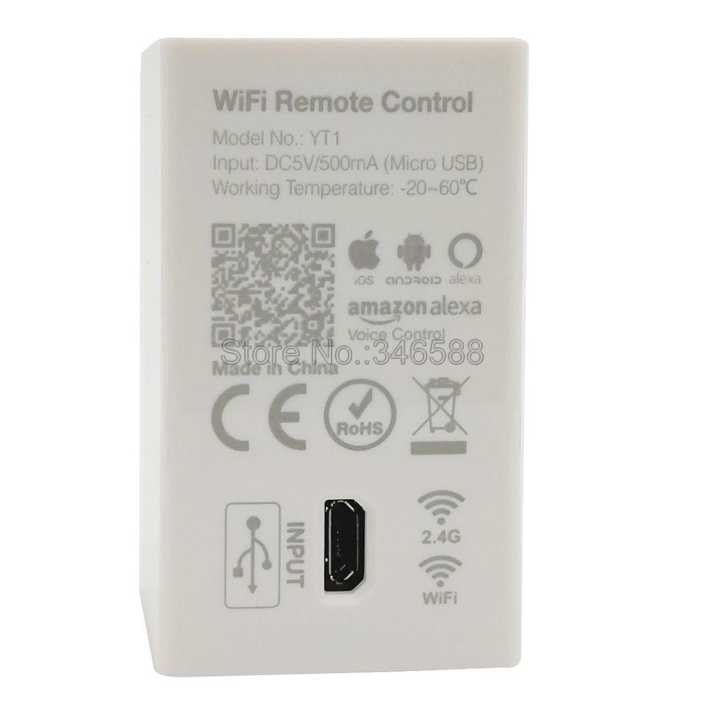 YT1 WiFi Remote Controller, Smartphone App Control, WiFi Wireless Control,  Amazon Alexa Voice Control for Mi light 2 4G Series