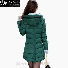 New Women's Winter Jacket Women Cotton Parkas Jackets Winter Hooded Jacket Fashion Girls Padded Slim Long Coat Jackets Plus Size