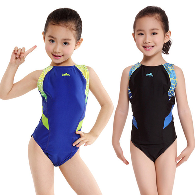 c435094a01ec9 Children Girls One Piece Swimsuit Kids Boys Swimwear Professional Babies  Bathing Suits Tight Racing Competition Swimming Suit