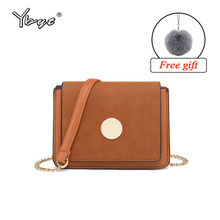 hot deal buy ybyt brand 2018 new women square shoulder bags ladies casual package  chain shoulder strap messenger crossbody bags ladies bags