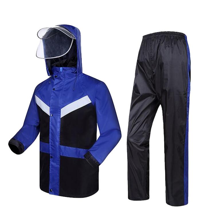 Новый высокая видимость модные плащи костюм дождя светоотражающие куртка Непромокаемые штаны безопасности одежда Спецодежда Бесплатная д... ...
