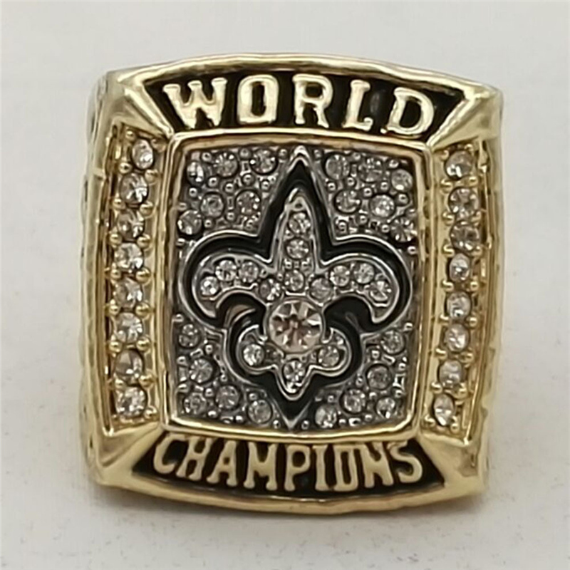 Marcatsa 2009  New Orleans Saints world championship ring alloy rings for men size 8 -13 ...