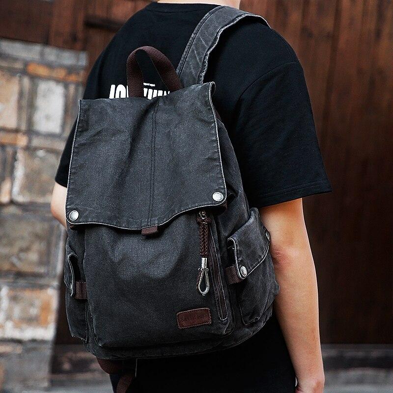 Muzee collège sac à dos hommes USB Port de charge Anti-vol Bookbag 15.6 pouces sac à dos pour ordinateur portable école hommes voyage Daypack 1883 - 5