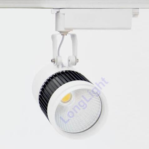 цены 10pcs/lot Led track light 50W COB,with fan Spot light Led lamp for clothing store showcase rail track lighting White+Black