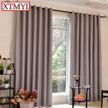 Japón estilo de cortinas para el dormitorio ventana persianas cortinas cortinas para la sala de estar Sólido gris por encargo