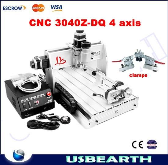 4 Axis CNC Milling Machine 3040 Z-DQ Wood Carving Machine CNC Router Machine