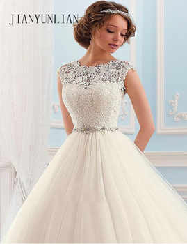 Vestido de noiva Lace And Tulle Bride Wedding Dress 2020 Princess Tube Top Beading Wedding Gown Custom-made