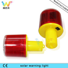 Solar Powered Easy Installment Warning Flashing Beacon Strobe  Light Button Co