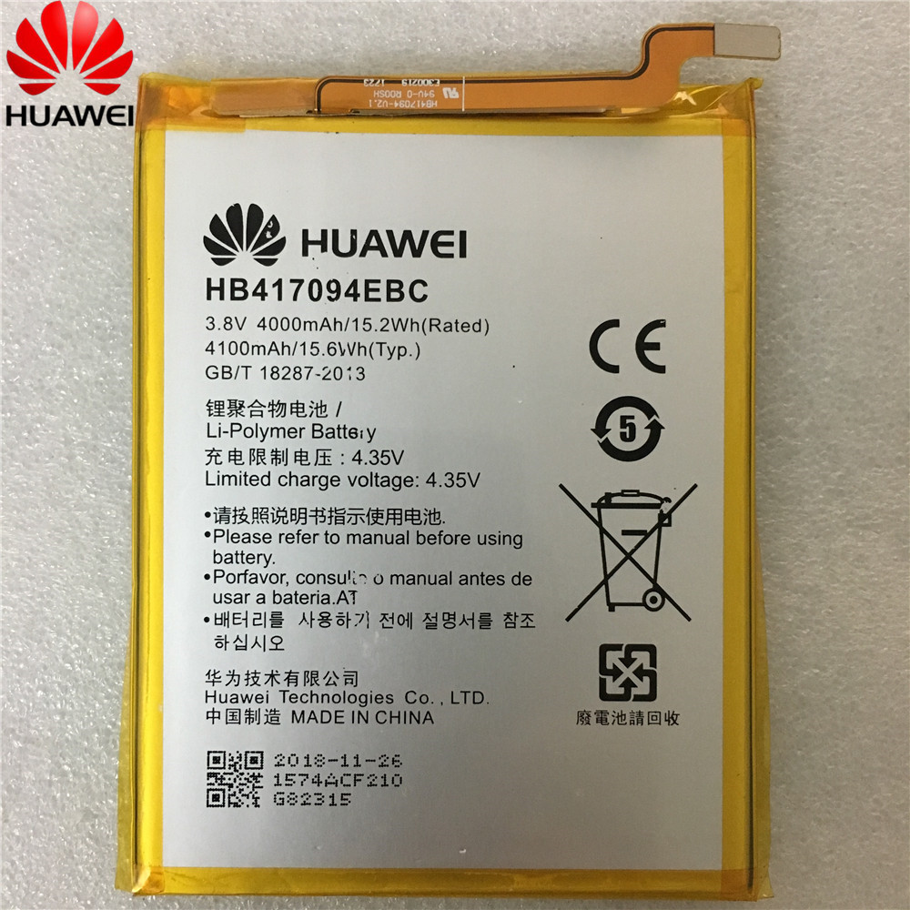 Mobile Phone Parts Hua Wei Original Replacement Phone Battery Hb417094ebc For Huawei Ascend Mate 7 Mt7 Tl00 Tl10 Ul00 Cl00 4000/4100mah Diversified Latest Designs Mobile Phone Batteries