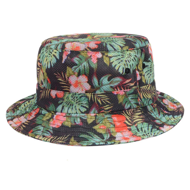 2015 Summer Hot Sale Leaves Floral Bucket Hat Bird s-eye Diaper Cap Bucket  Hats Women Outdoor Fashing Cap Casual Sun Hat Goldtop 5eae5feeeb22