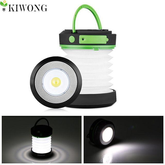 Solar Led Camping Lantern Lights Rechargeable Battery Collapsible Mini Brightest Flashlight For Outdoor Hiking Tent Patio Lamp