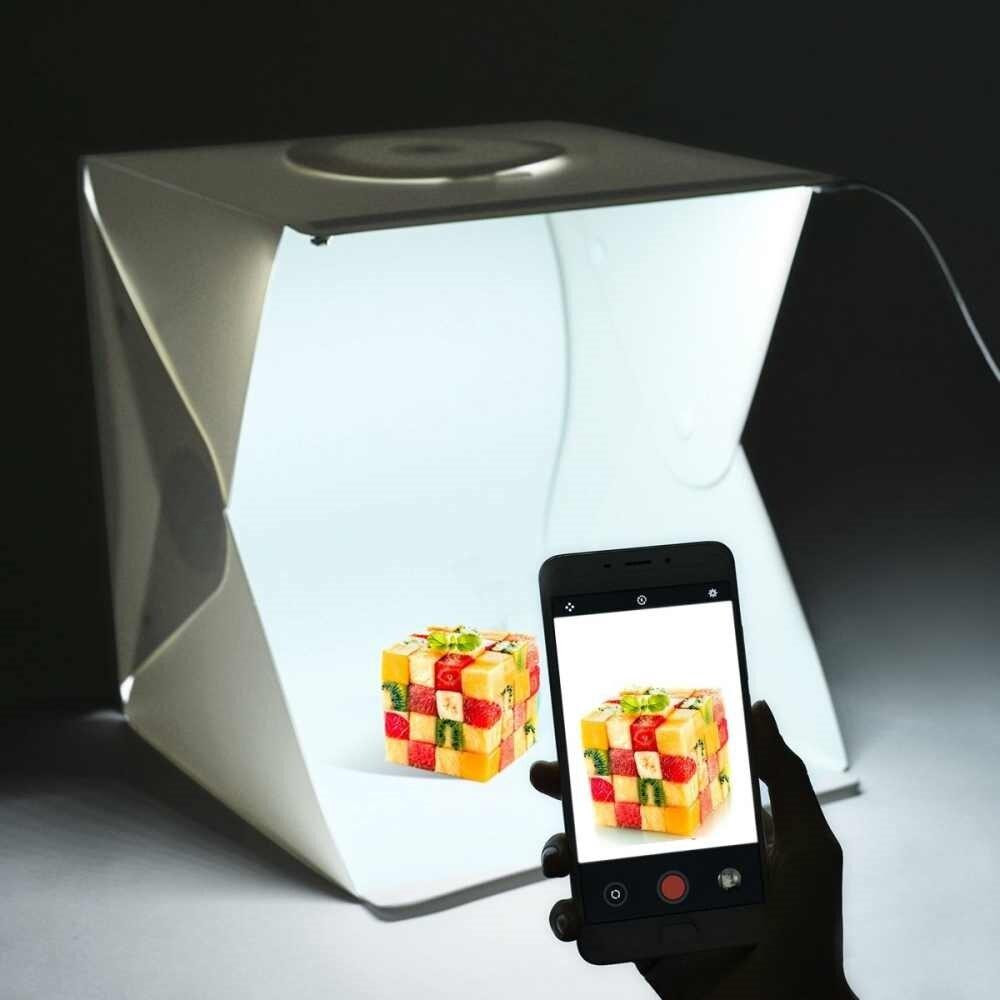 ULANZI 30 cm/12 pouce mini Pliable Lightbox Lumière Chambre Photo Studio de Photographie Boîte à lumière Caméra Photo Fond