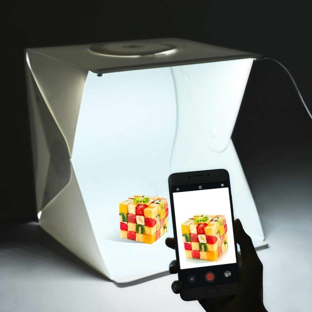 ULANZI 30 cm / 12 inch mini Lipat Lightbox Light Room Photo Studio Fotografi Backdrop light Box Kamera Foto Latar Belakang