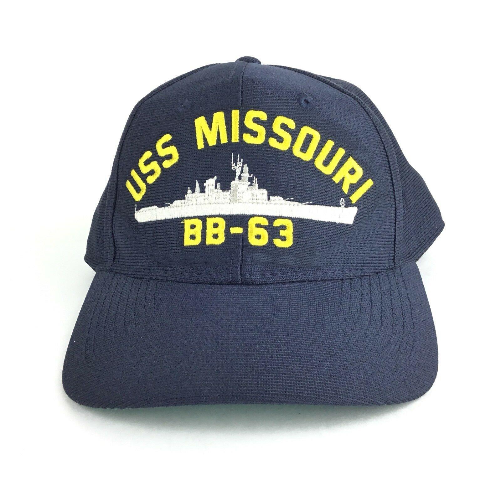 Printing USS Missouri BB 63 (Navy Battleship)   Baseball     Cap   Hat SnapBack Adult