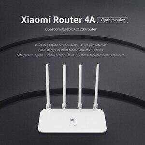 Image 5 - Xiaomi Mi 4A Router Gigabit edition 2.4GHz + 5GHz WiFi 16MB ROM + 128MB di DDR3 di Alta guadagno 4 Antenna APP di Controllo IPv6 Xiaomi Router