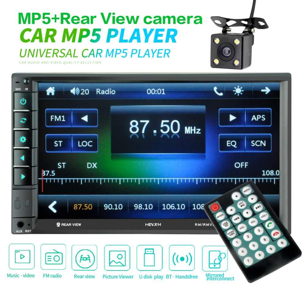 "MP5 Auto reproductor multimedia doble dentro USB Bluetooth de Audio de coche Radio Multimidia MP5 12 V FM HD táctil de 7"" pantalla Radio Estéreo"