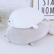 13.8inches Cute Stuffed Animals doll the seal Pillow Plush Toys Regalos para niños niños blanco gris