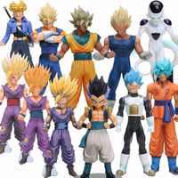 19-30 CM de Dragon Ball Z Super Saiyan Vegeta hijo de Goku freezer troncos Vegetto Gotenks PVC figura de acción de colección modelo de juguete 11 estilos