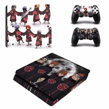 Anime Naruto PS4 Slim Skin Sticker For PlayStation 4 Console and Controllers PS4 Slim Skins Stickers