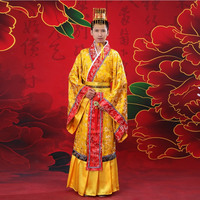 Ancient Chinese Costume Hanfu Dress Imperial Robe Tang Dynasty Qing Emperor Men Stage Fashion Dance
