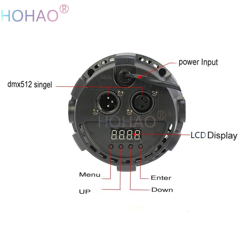 4pcs A Lots Cheaper Par Can64 Lights rgb 1w3w mini Led plastic par lights color mixxing change FreeShipping