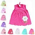 Dress girl newborn infant toddler bebé de la manera sin mangas floral vestido de tirantes de algodón tops camisetas dress a-line vestidos de edad 6-10 m