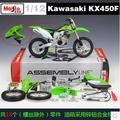 Горячая продажа Kawasaki KX 450F 1:12 DIY Собрал модель детские игрушки мальчик Maisto мотоцикл Горный Велосипед зеленый moto Мотоцикл Мотокросс