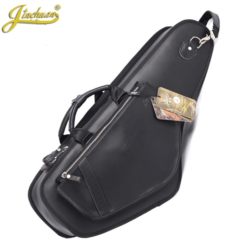Wholesale Professhional portable durable luxury PU leather alto saxophone bags Eb sax soft case cover backpack shoulder straps high grade new wholesale professional portable tenor saxophone bag bb sax gig case waterproof backpack soft cover padded thicker