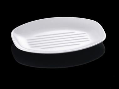 New Fashion Melamine Dishes Flate Head Egg Shape Dishes With Chain Restaurant A5 Melamine Dishes Melamine Tableware