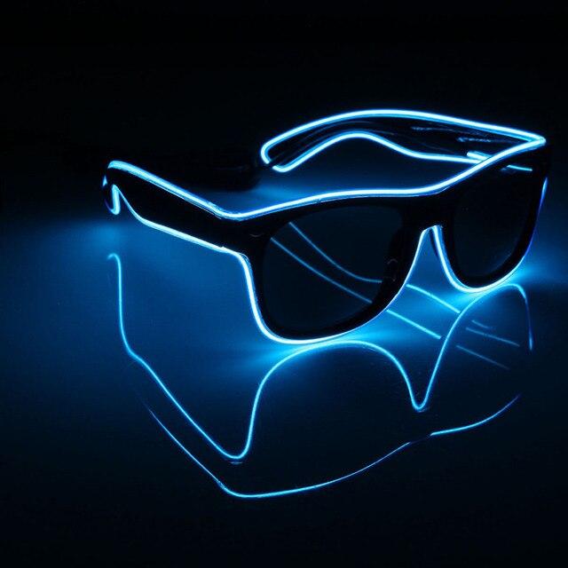 LED EL Draht Gläser Leuchten Leuchten Sonnenbrille Brillen ...