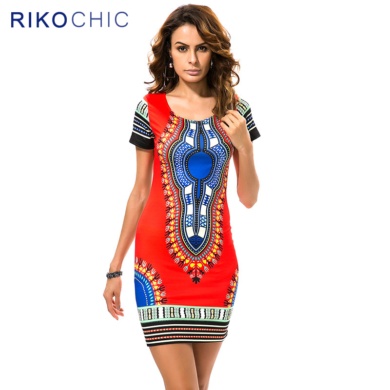 RIKOCHIC Summer Dashiki Dress African Pattern Ethnic Style Fashion Custom African Dress Patterns