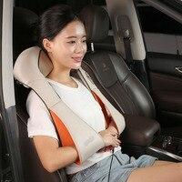 1PC U Shape Electrical Shiatsu Back Neck Shoulder Massager Body Infrared 3D Kneading Massager EU Plug