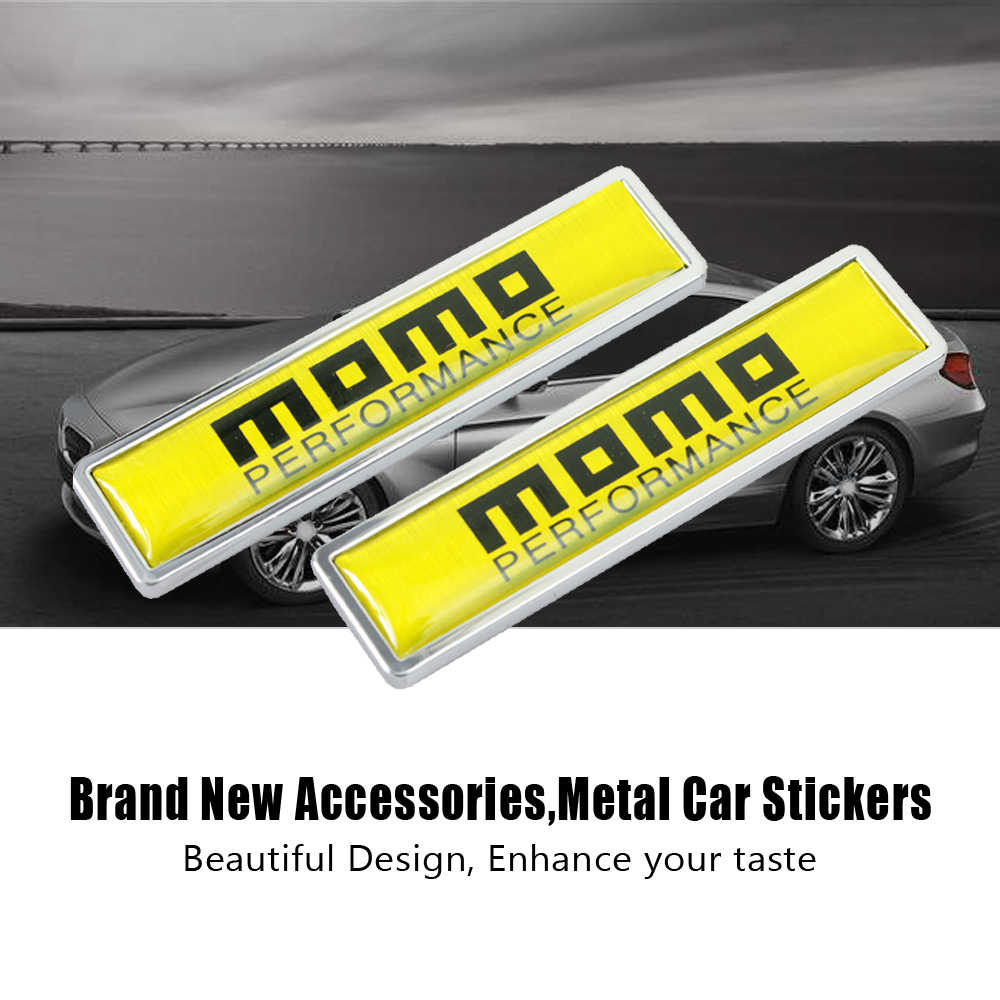 Car decoration side door sticker momo logo for audi volkswagen skoda mini cooper jeep car styling
