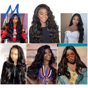 Image 5 - MISSBLUE 30 32 34 36 38 40 дюймов бразильские волосы плетение пряди волнистые 100% человеческие волосы пряди Remy волосы для наращивания топ продаж