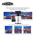 Rangers Professional Portable 360 degree Tripod Head Ball Adapter Plate Screw Ball Head for Nikon Canon DSLR Camera Silver RA098