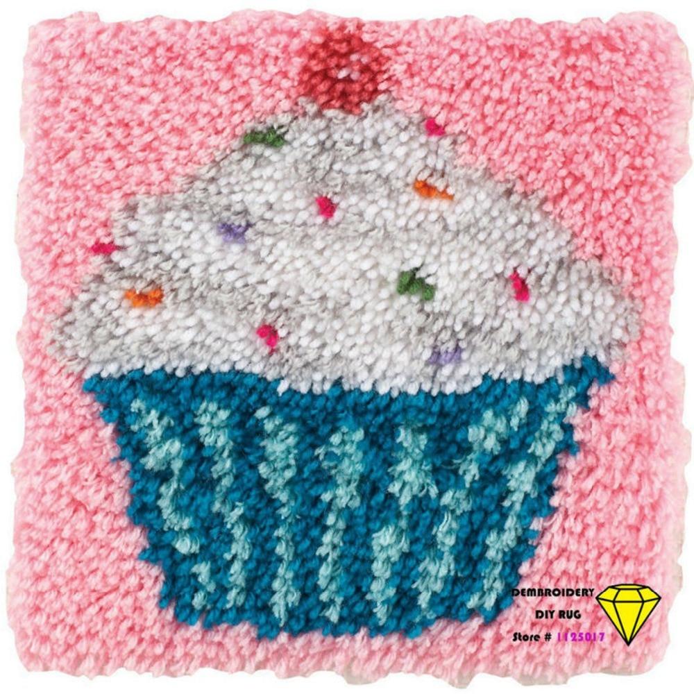 DIY Embroidery yarn carpet needlework cross stitch DIY mats ... for Diy Carpet Yarn  111bof