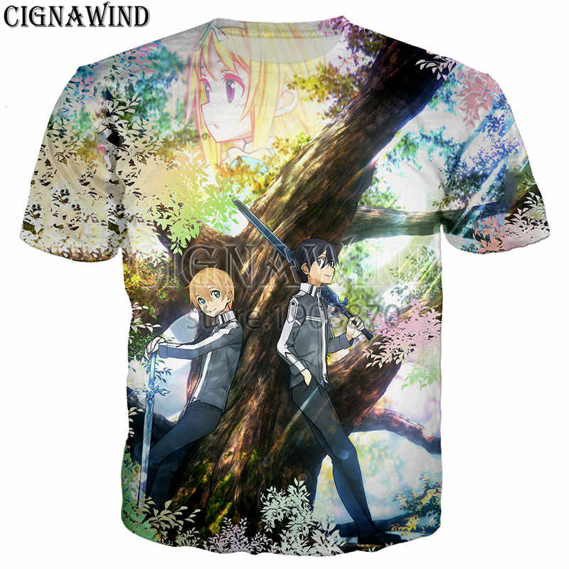 44e91de95 ... New arrive Sword Art Online: Alicization t shirt men women 3D print  Novelty funny t