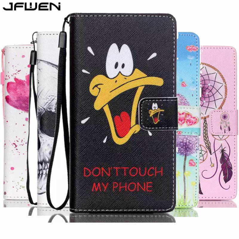 For Huawei P8 Lite 2016 Case Leather Book Style Flip Wallet Painted Case Cover For Huawei P8 Lite Phone Bags With Lanyard Card