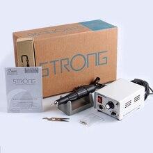 65W Strong 210 102L uchwyt 35000rpm STRONG 90 skrzynka sterownicza wiertarka do paznokci maszyna Manicure Pedicure elektryczne paznokcie sztuka sprzęt