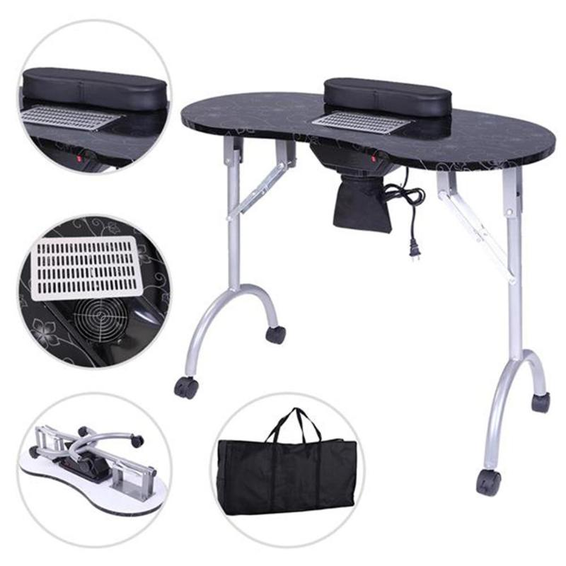 Portable MDF Manicure Table Spa Beauty Nail Art Salon Equipment Desk Professional Nail Art Table with Dust Collector