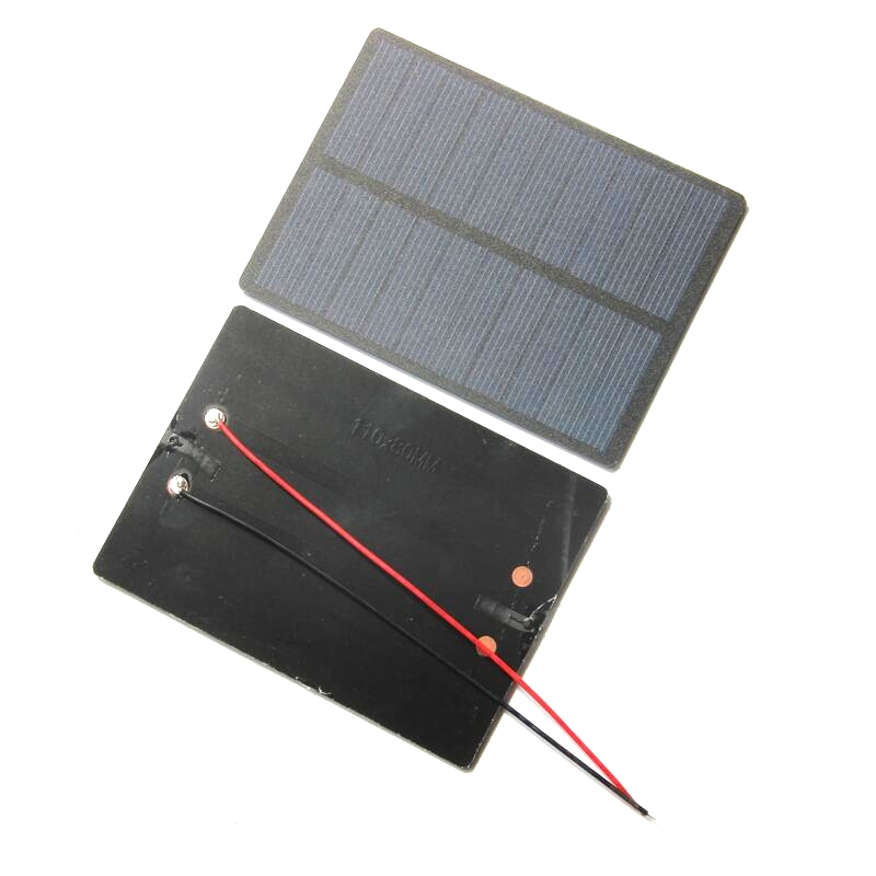 High Quality 1.3W 5V Mini Solar Cell Solar Module Polycrystalline PET Solar Panel+15CM Cable 110*80*3MM Free Shipping