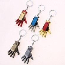 Marvel Avengers Endgame Iron Man Palm Keychain Mjollnir Metal Thors Hammer Keyring Action Figure Toys