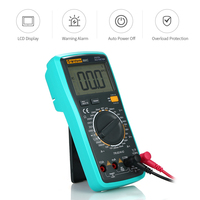 LCD Digital True RMS Multimeter with Temperature Detector DC/AC Voltage Current Meter Capacitance Resistance Diode Tester