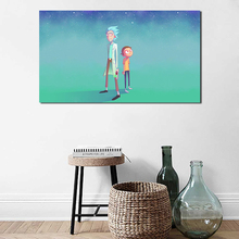 Rick And Morty Cartoons Wallpapers Wall Art Canvas Posters Prints Painting Pictures For Bedroom Modern Home Decor Framework