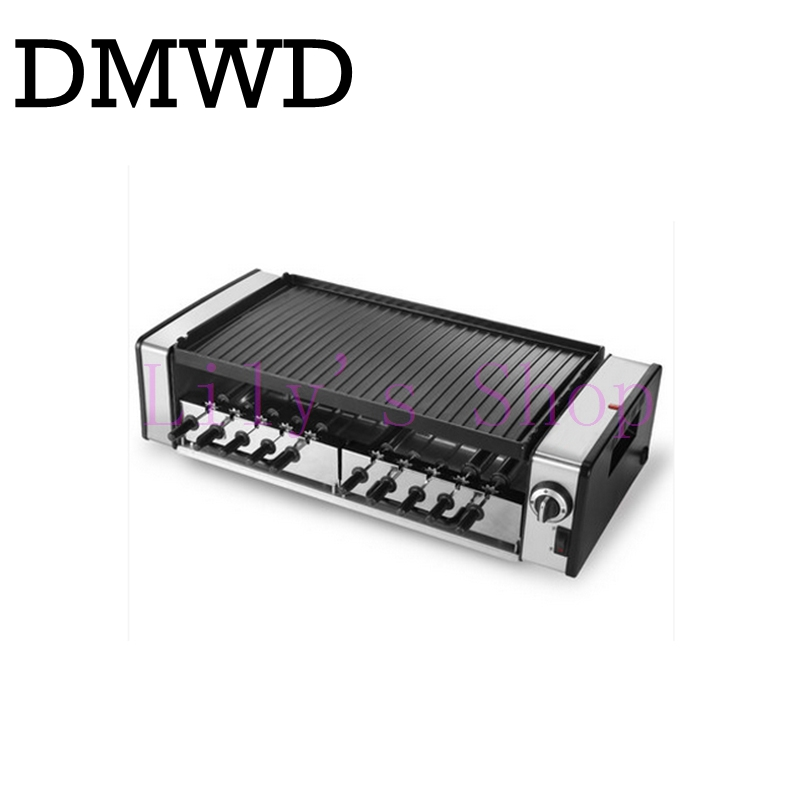 Automatic Smokeless BBQ grill household electric hotplate stove teppanyaki barbecue Pan skewer machine Stainless steel outdoor sc 05 burner infrared barbecue somkeless barbecue grill bbq gas infrared girll machine stainless steel smokeless barbecue pits