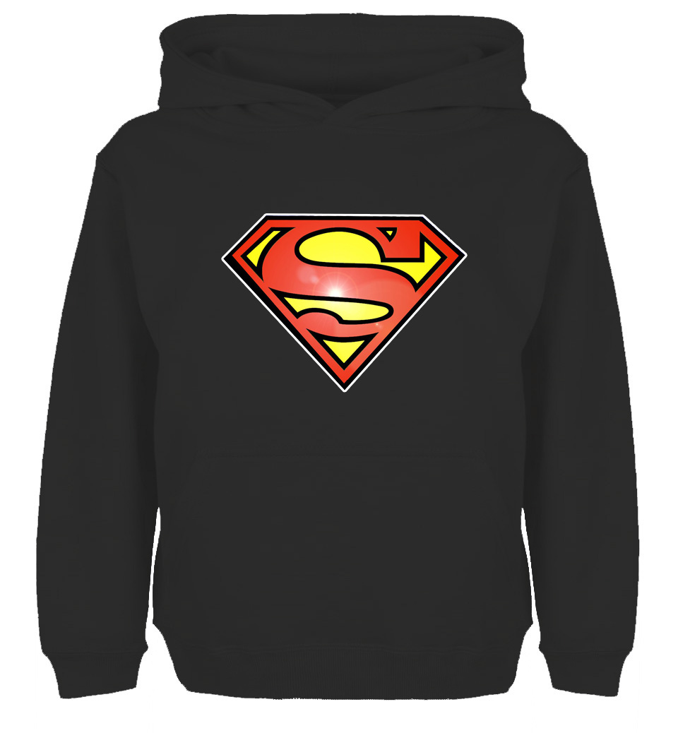 Popular Simple Style Superman Symbol Design Fashion Sweatshirt Hoodie Mens Womens Sweatshirt Tops