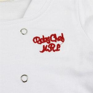 Image 5 - Baby Jongen Meisje Carnaval Kok Chef Halloween Cosplay Outfits Baby Kok Chef Keuken Uniform T shirt Broek Hoed Fotografie Kostuum