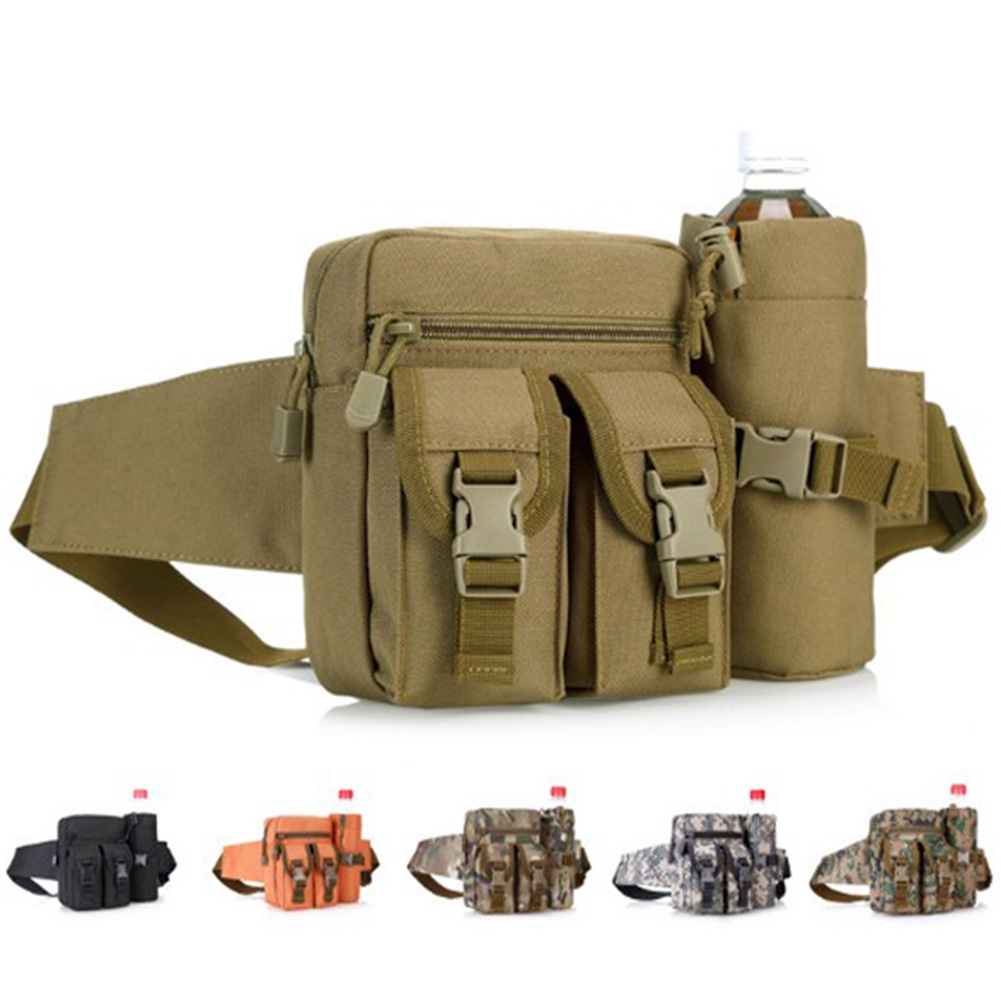 SFG HOUSE Tactical Molle Bag Waterproof Waist Belt Bag Hiking Fishing Hunting Waist Bags Camping waist Pack airsoftpeak military tactical waist hunting bags 1000d outdoor multifunctional edc molle bag durable belt pouch magazine pocket