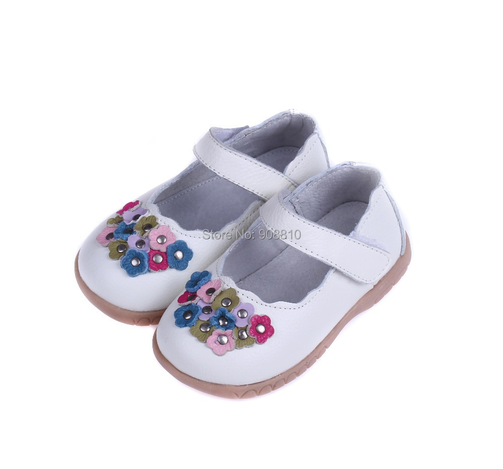 Hot Little Girls Shoes Genuine Leather Mary Jane Red White